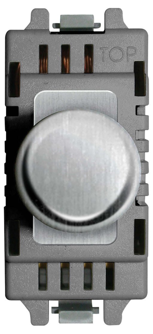 BG Nexus GBSD400 Grid Brushed Steel 400W 2 Way Push Dimmer Module