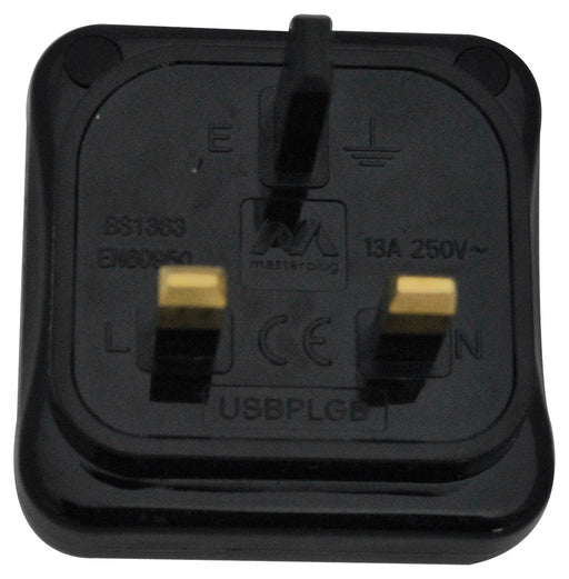 BG USBPLGB USB CHARGER Plug Polished Black - BG - sparks-warehouse