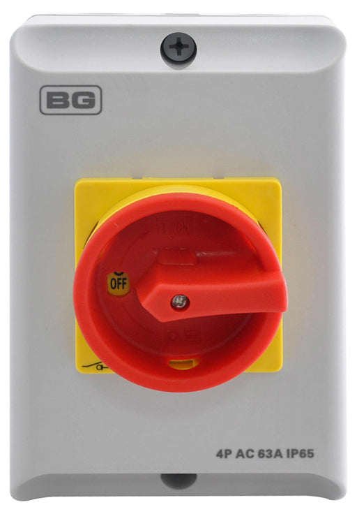 BG CPRSD463 63A 4P AC ROTARY ISOLATOR IP65 - BG - sparks-warehouse