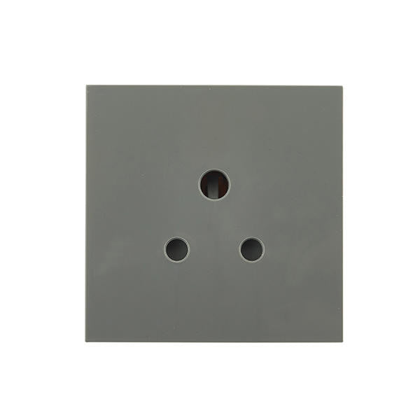 BG EM2ASG 2A Round Pin Unswitched Socket Module Grey (50 x 50mm) - BG - sparks-warehouse
