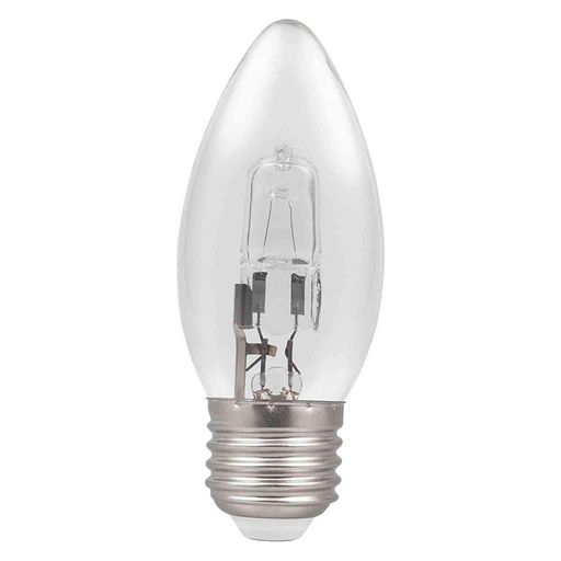 Casell C28ES-H-CA - Candle 28w E27 240v Clear Energy Saving Halogen Light Bulb - 35mm