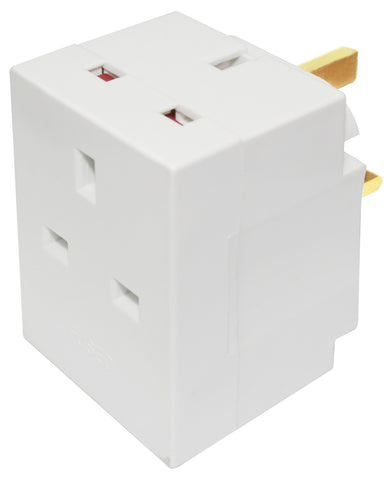 BG MSF3 3 Way FUSED MULTI Socket ADAPTOR
