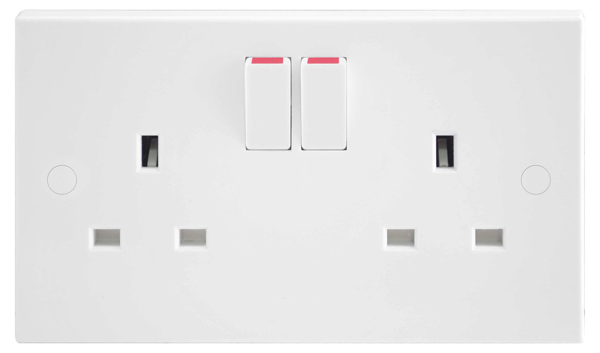 BG Nexus 922DP 13A 2 Gang Double Pole Switched Socket - BG - Sparks Warehouse