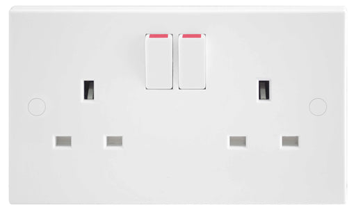BG Nexus 922DP 13A 2 Gang Double Pole Switched Socket - BG - sparks-warehouse