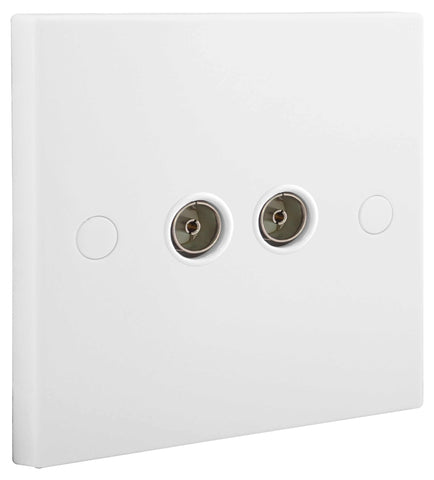BG Nexus 961 2 Gang CO-AXIAL Socket
