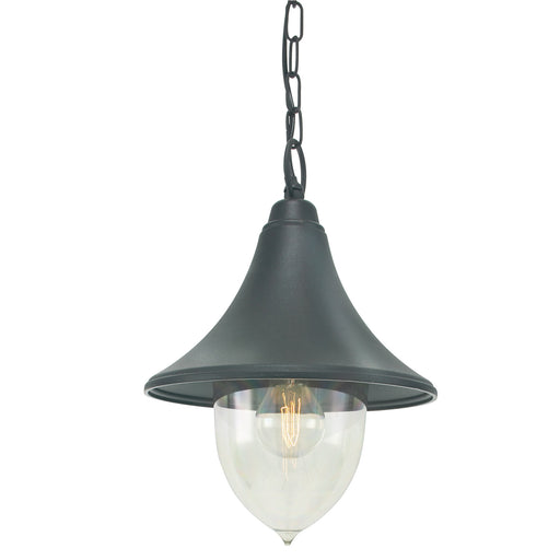 Elstead - F8 BLACK Firenze 1 Light Chain Lantern - Black - Elstead - Sparks Warehouse