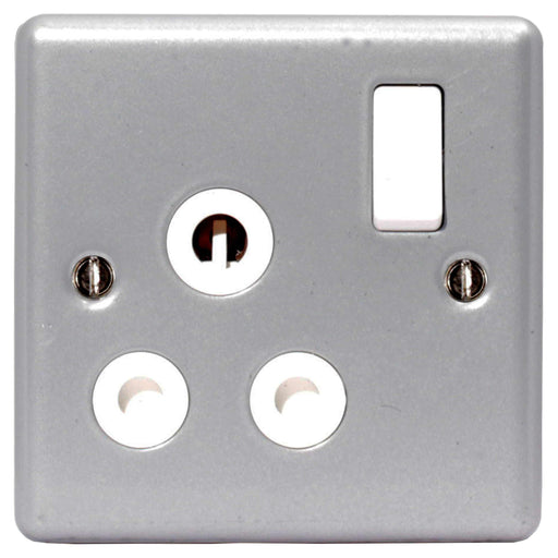 BG MC599 METAL CLAD 15A 1 Gang Switched Socket - BG - sparks-warehouse
