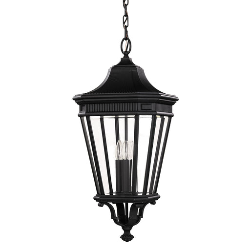 Elstead - FE/COTSLN8/L BK Cotswold Lane 3 Light Large Chain Lantern - Black - Elstead - Sparks Warehouse