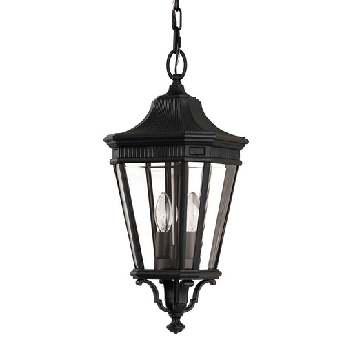 Elstead - FE/COTSLN8/M BK Cotswold Lane 2 Light Medium Chain Lantern - Black - Elstead - Sparks Warehouse
