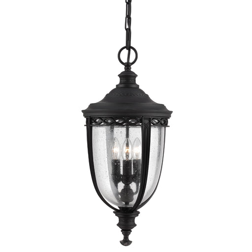 Elstead - FE/EB8/L BLK English Bridle 3 Light Large Chain Lantern - Black - Elstead - Sparks Warehouse