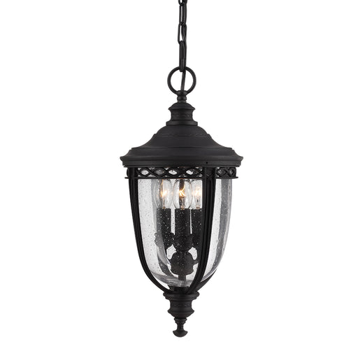 Elstead - FE/EB8/M BLK English Bridle 3 Light Medium Chain Lantern - Black - Elstead - Sparks Warehouse