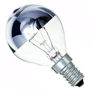 Crown Silver 25w SES / E14 Golf Ball Bulb - Casell - sparks-warehouse