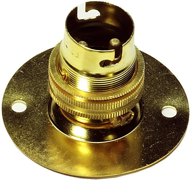 05128 - Battenholder BC Brass 65mm Ø