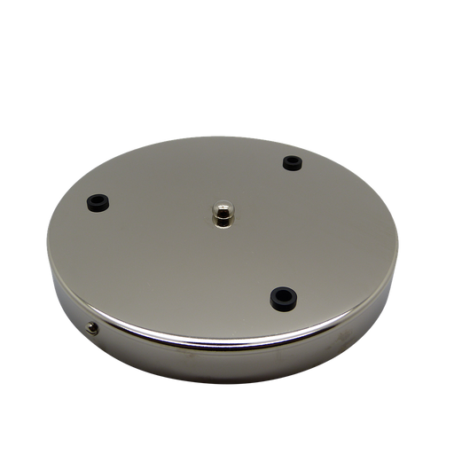05593 Ceiling Rose Nickel 200mm Ø 3-hole - Lampfix - Sparks Warehouse