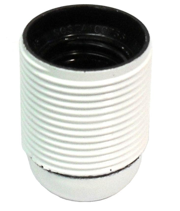 05698 Lampholder 10mm ES Threaded Skirt White - LampFix - sparks-warehouse