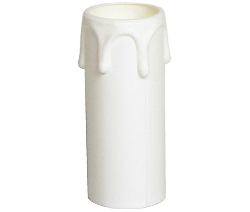 05189 - Plastic Candle Drip White 27 x 70mm - Lampfix - Sparks Warehouse