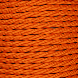 01782 - T-T Braided Flex 3 core 0.75mm Orange Sold by the metre