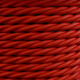 01781 - T-T Braided Flex 3 core 0.75mm Poppy Red - Sold by the metre