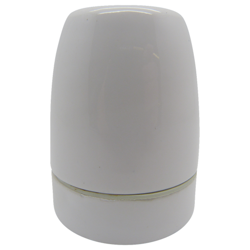 05723 ES Gloss White Porcelain Lampholder 10mm - ES / Edison Screw / E27, Porcelain, 10mm Thread Entry - Lampfix - Sparks Warehouse
