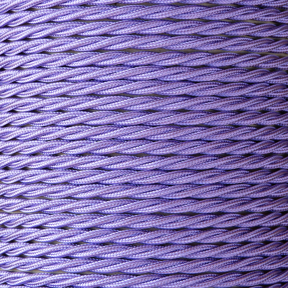 01787 T-T Braided Flex 3 core 0.5mm Purple - Sold by the metre - LampFix - sparks-warehouse
