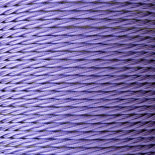 01787 T-T Braided Flex 3 core 0.5mm Purple - Sold by the metre