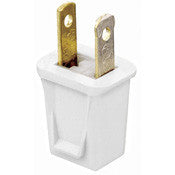 05853 - Plug USA 2 Pin Polarised UL Rated, Kwik Connect, White - LampFix - Sparks Warehouse