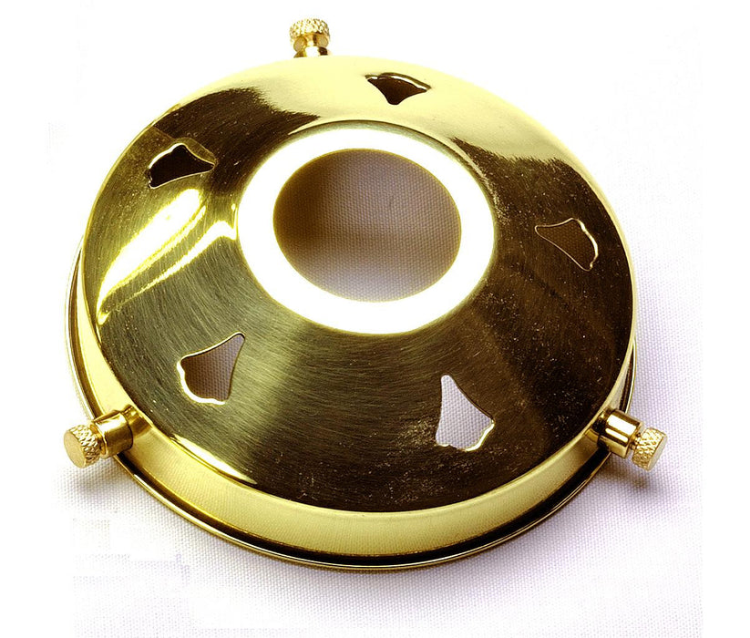 "05218 - 3¼"" Polished Brass Gallery 29mm hole - Lampfix - sparks-warehouse"