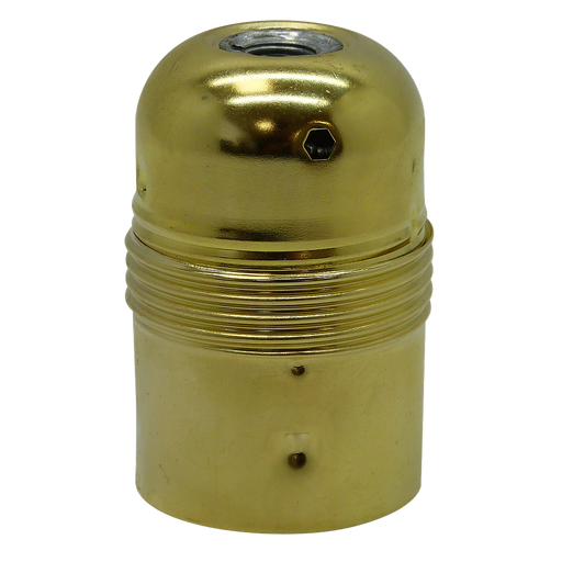 06058 Lampholder 10mm ES Brassed Smooth Skirt - Lampfix - Sparks Warehouse