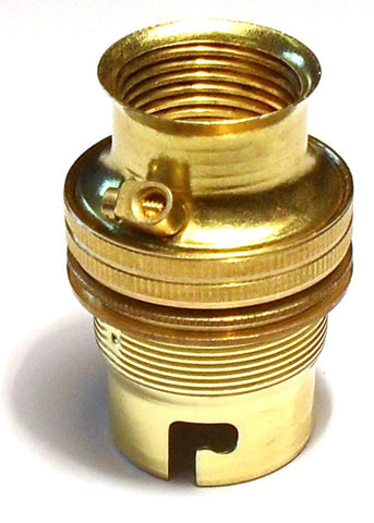 05640 - BC Lampholder 20mm Unswitched Brass