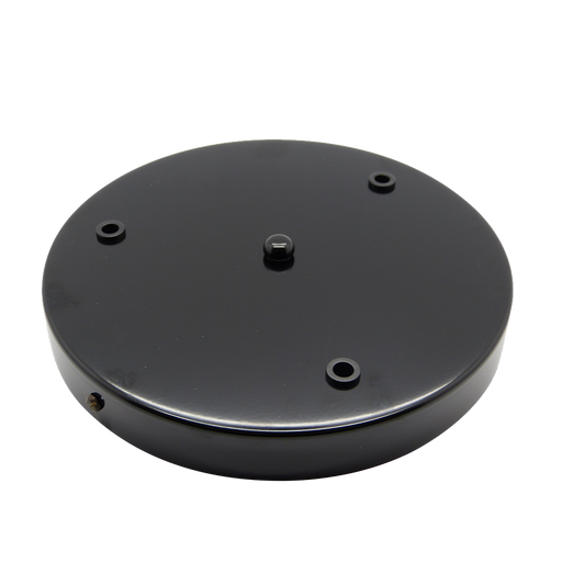 05623 Ceiling Rose Black 200mm Ø 3-hole - Lampfix - Sparks Warehouse