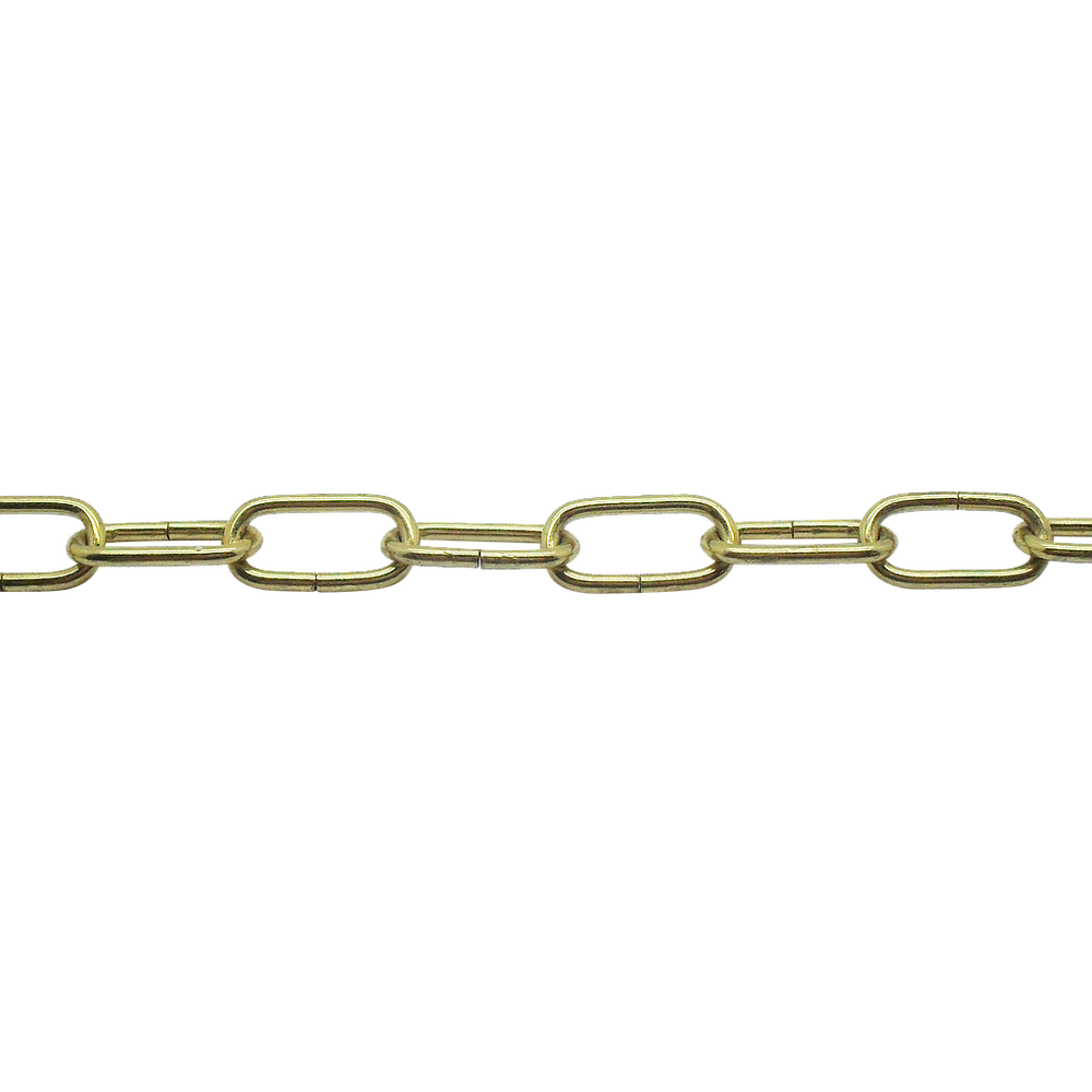 05075 - Ceiling Chain Small Flat Side Brassed 20x10mm, mtr - Lampfix - sparks-warehouse