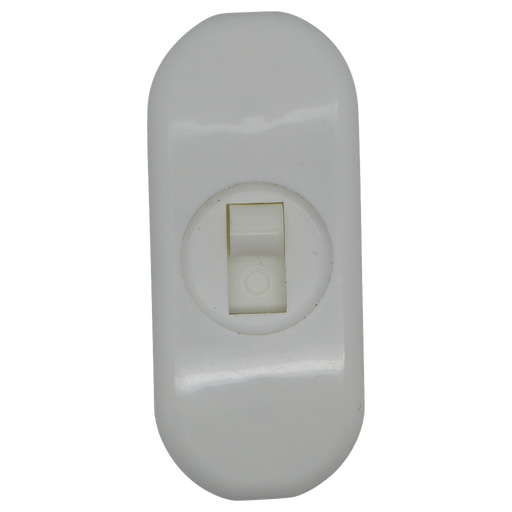 05764 - 2 Core Inline Switch Mini White 1A - Lampfix - Sparks Warehouse