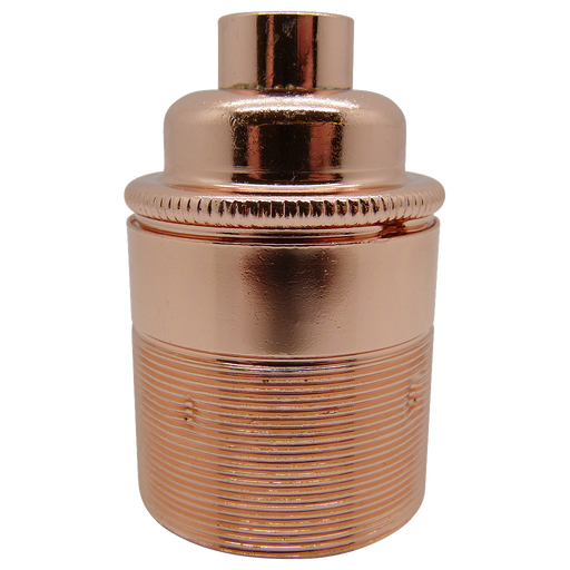 "05733 Lampholder ½"" ES Copper Threaded Skirt - ES / Edison Screw / E27, Copper, ½"" Thread Entry - Lampfix - Sparks Warehouse"