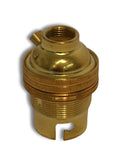 "Lampfix 05012 BC Lampholder ½"" Unswitched Brass - British Made"