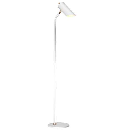 Elstead - QUINTO/FL WAB Quinto 1 Light Floor Lamp - White Aged Brass - Elstead - Sparks Warehouse