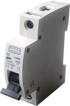 BG Electrical CUMB16 Single Pole Type B Miniature Circuit Breaker MCB 16A - BG - sparks-warehouse