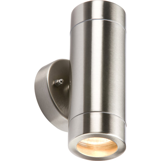 Knightsbridge WALL2L IP65 Stainless Steel Up & Down Light GU10 35W - Knightsbridge - sparks-warehouse
