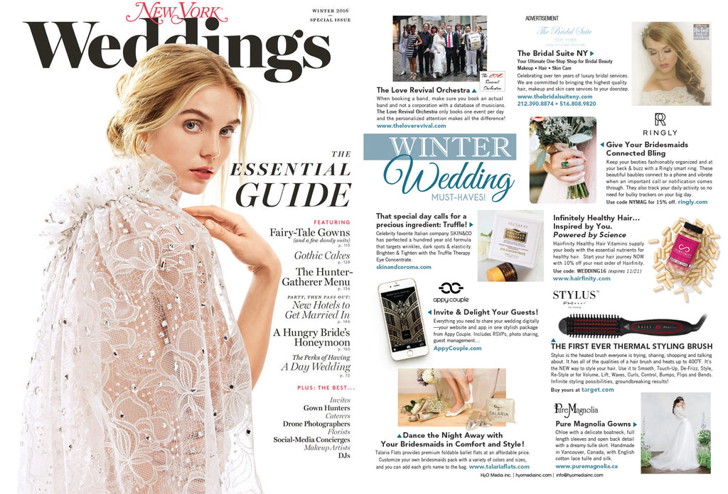 Check us out in New York Weddings Magazine