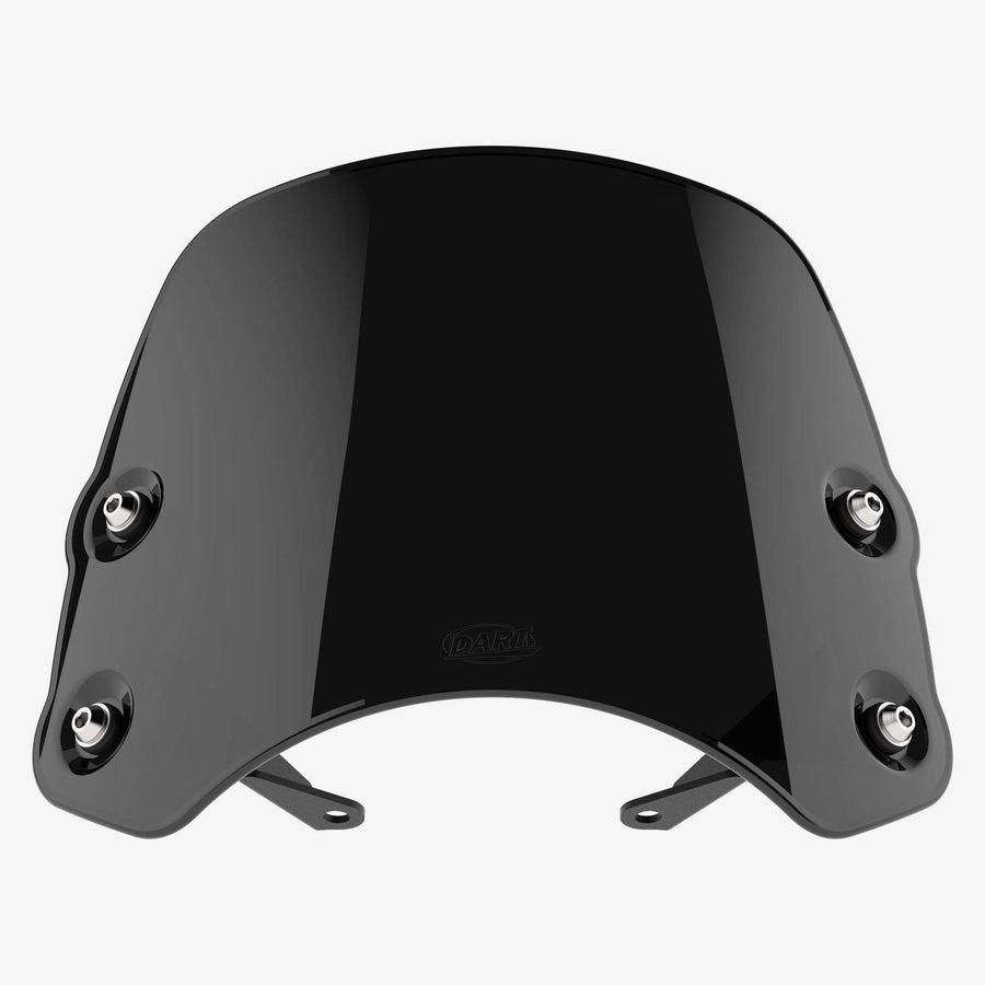 Harley-Davidson XL Sportster - Piranha XL883 / 1200 (except XL1200C) / Midnight Black Piranha flyscreen Dart Flyscreen Windshield