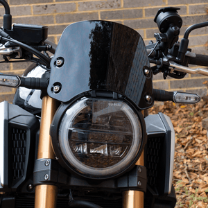 Honda CB650R / CB1000R Neo - Piranha Midnight Black Piranha flyscreen Dart Flyscreen Windshield