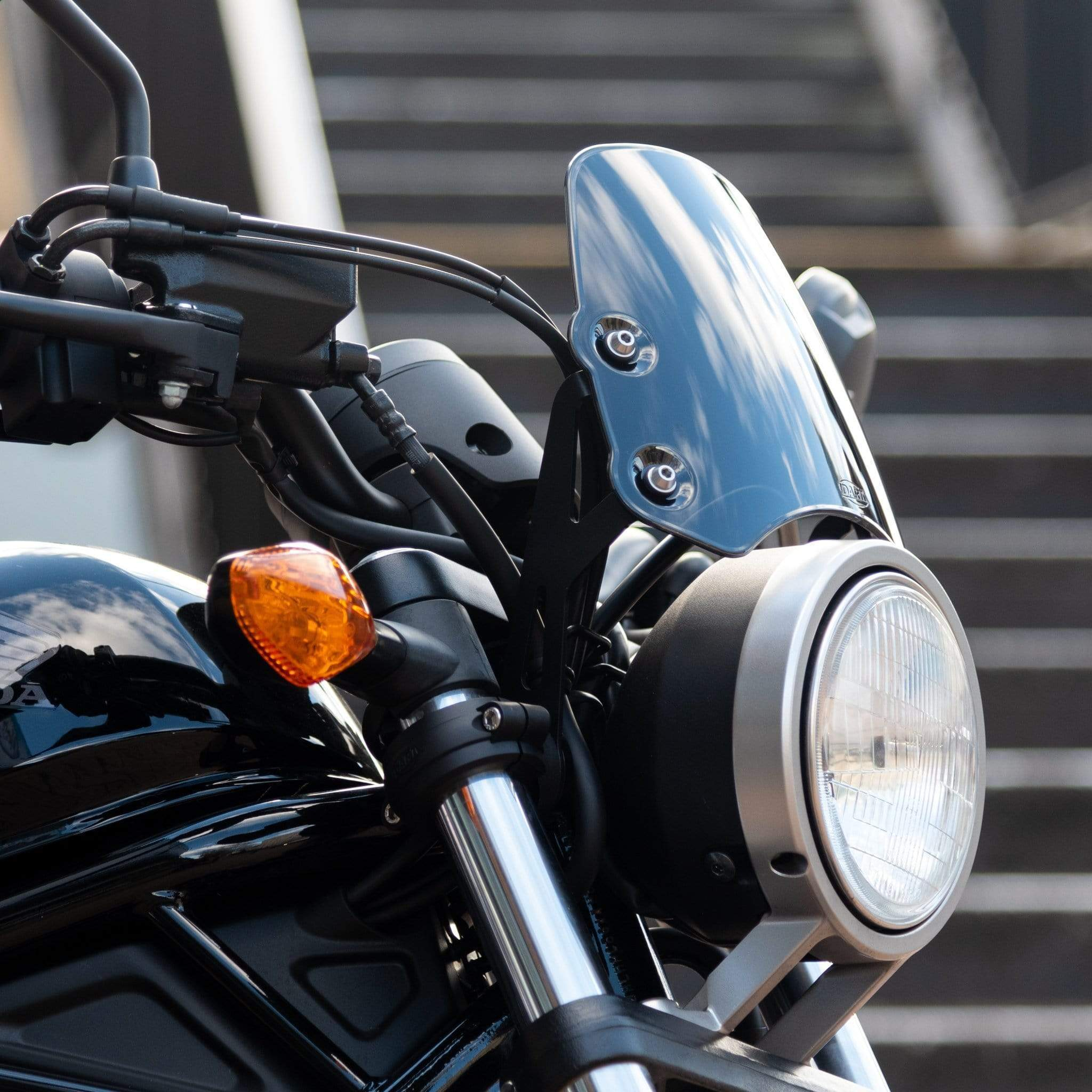 Honda CMX500 Rebel - Piranha Midnight black Piranha flyscreen Dart Flyscreen Windshield