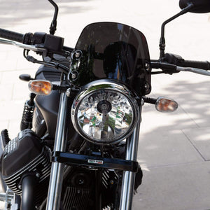 Moto Guzzi V9 Bobber / Roamer - Piranha Midnight Black Piranha Flyscreen Dart Flyscreen Windshield