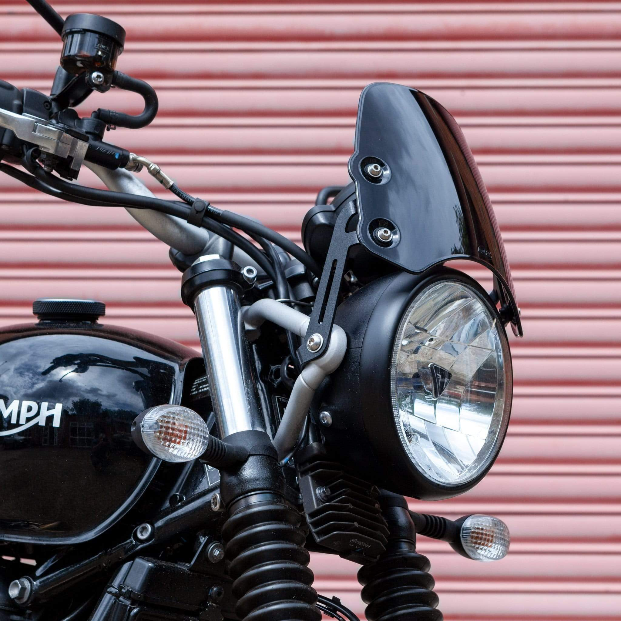 Triumph Street Scrambler - Piranha Midnight Black Piranha Flyscreen Dart Flyscreen Windshield