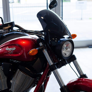 Victory round headlight - Marlin Marlin flyscreen Dart Flyscreen Windshield