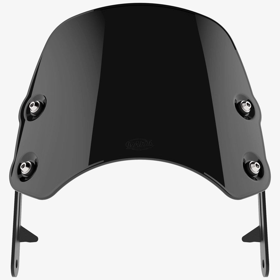 Yamaha SR400 - Piranha Midnight Black Piranha flyscreen Dart Flyscreen Windshield
