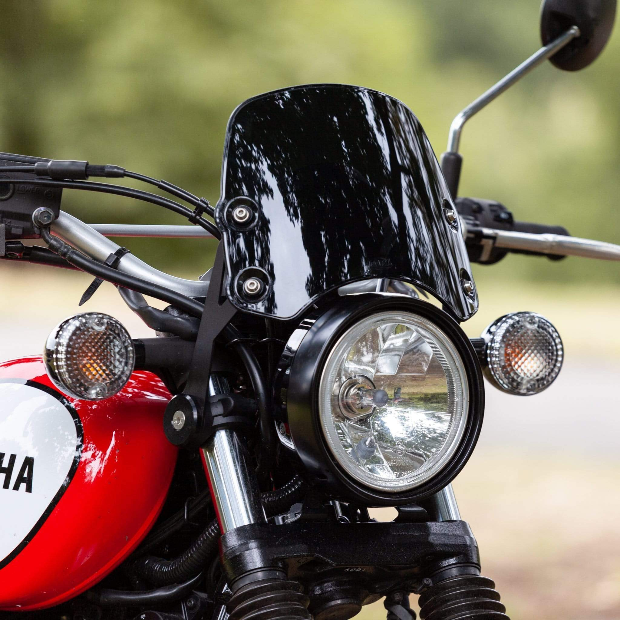 Yamaha XV950 Bolt / SCR950 (2013-on) - Piranha Midnight Black Piranha Flyscreen Dart Flyscreen Windshield