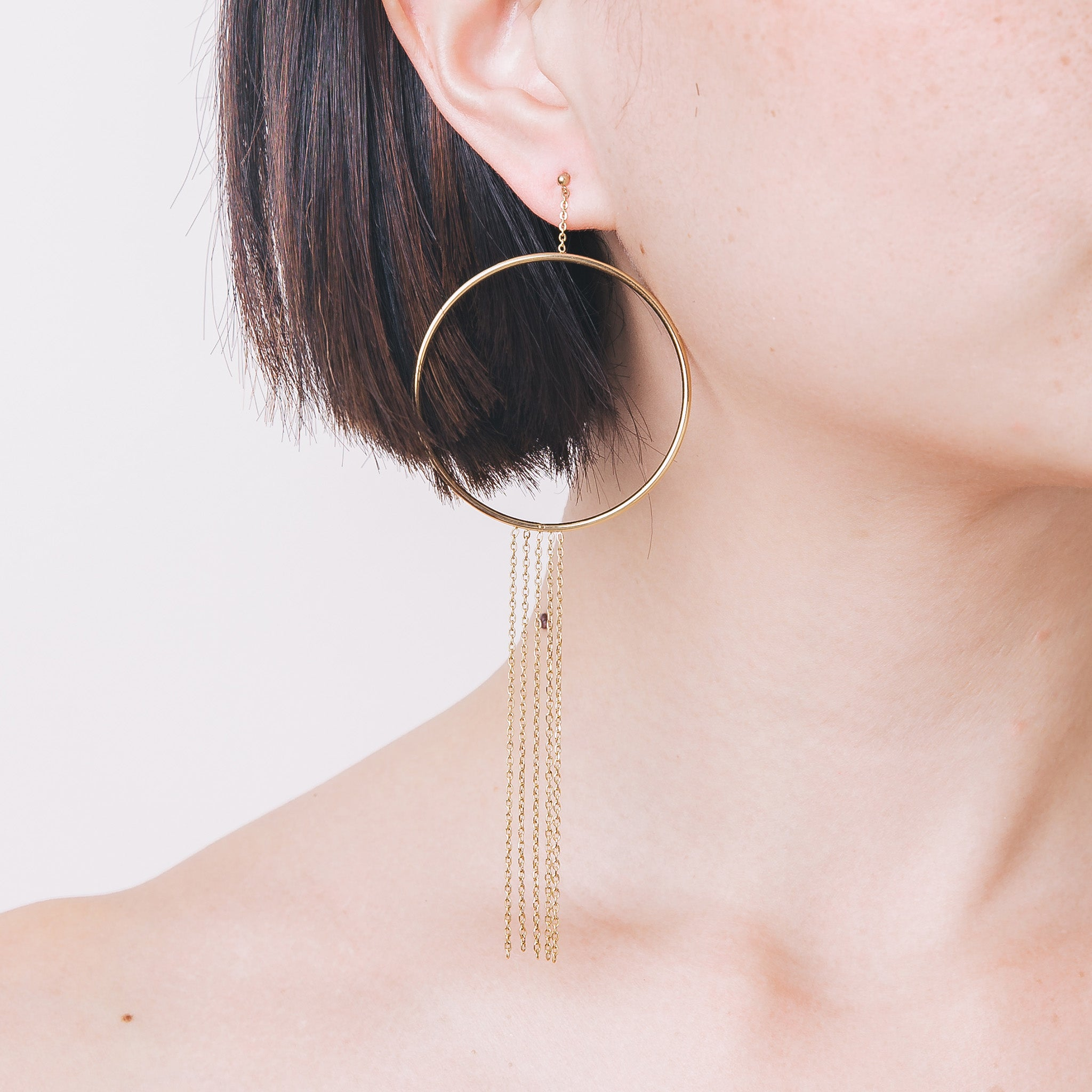 'James' Hoop Tassel Earrings