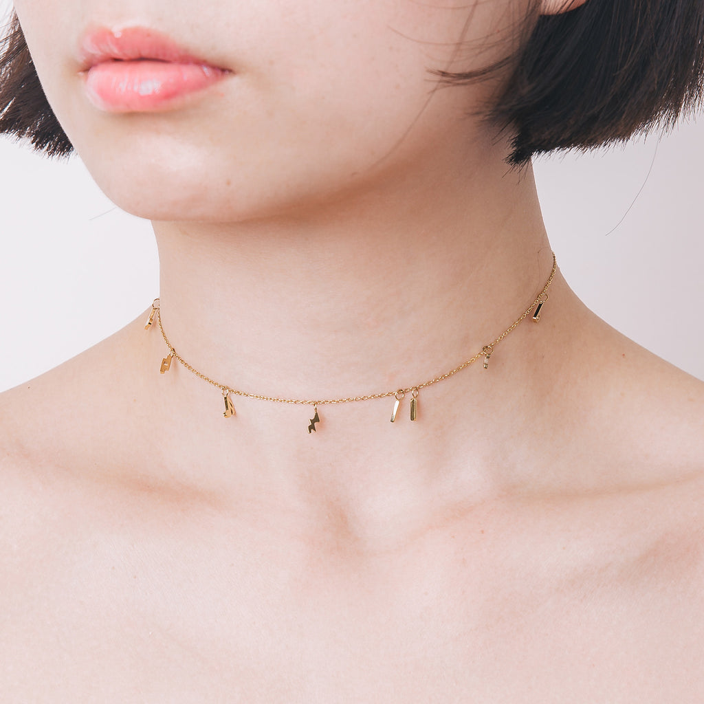 'Lola' Music Notes Choker