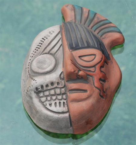 Aztec life & death mask