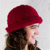 Eyelash Wool Crochet Ladies Winter Hat